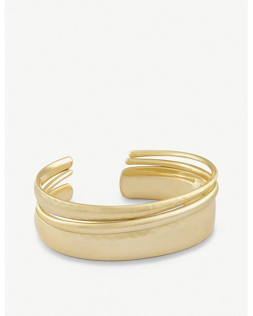 Kendra Scott - Metallic Tiana Pinch 14ct Gold-plated Bracelet - Lyst