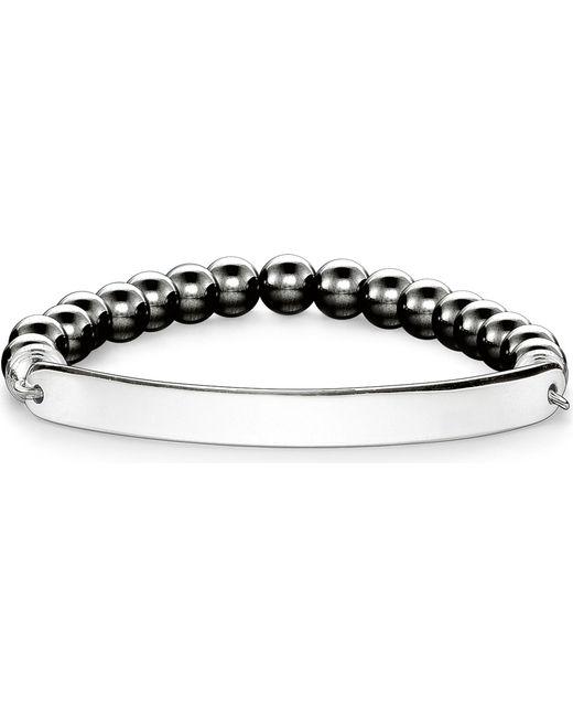 Thomas Sabo | Metallic Love Bridge Engraveable Haematite Bracelet | Lyst