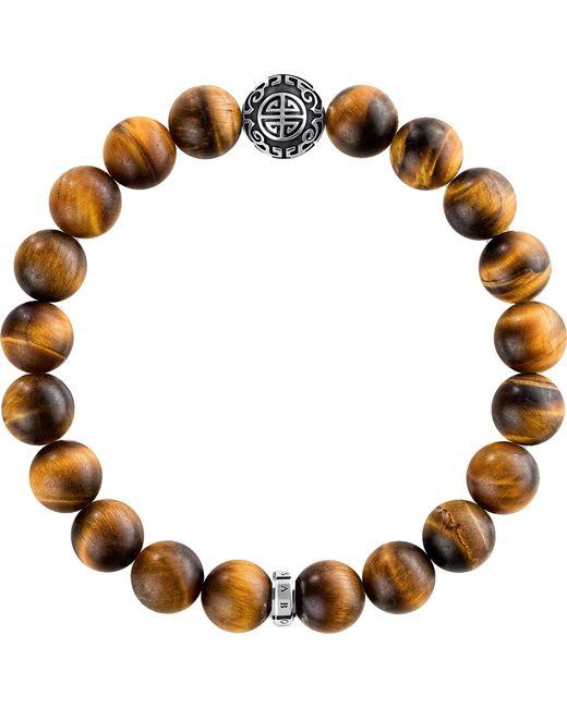 Thomas Sabo - Brown Rebel At Heart Sterling Silver Bracelet - Lyst