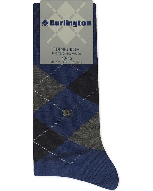 Burlington | Blue Edinburgh Wool-blend Socks for Men | Lyst
