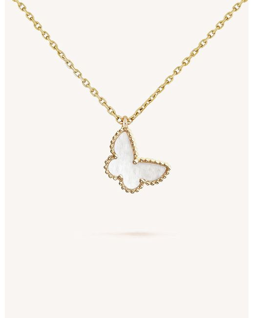 Van cleef arpels sweet alhambra yellow gold and mother of pearl van cleef arpels metallic sweet alhambra yellow gold and mother of aloadofball Image collections