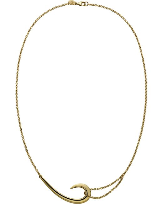 Shaun Leane   Metallic Sterling Silver And Gold-plate Hook Necklace   Lyst