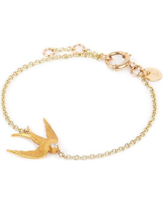 Annina Vogel | Metallic 9ct Gold Swallow Bracelet | Lyst