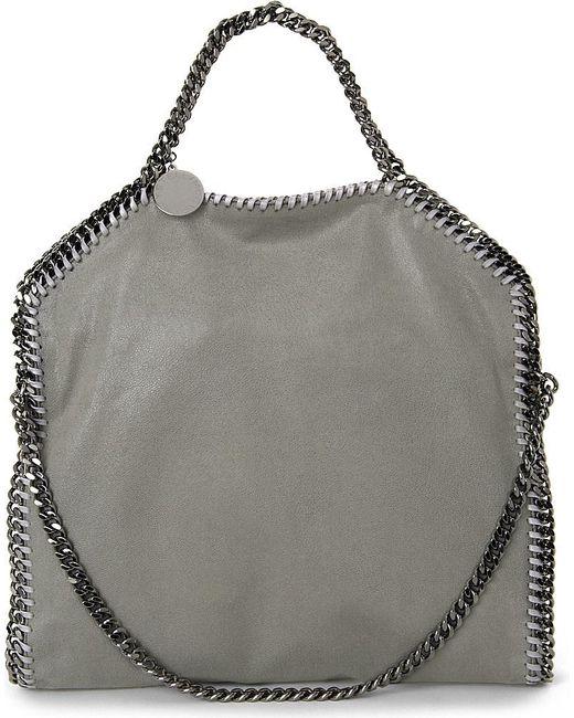 Stella McCartney   Gray Falabella Faux-suede Shoulder Bag   Lyst