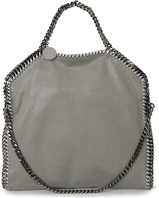 Stella McCartney | Gray Falabella Faux-suede Shoulder Bag | Lyst