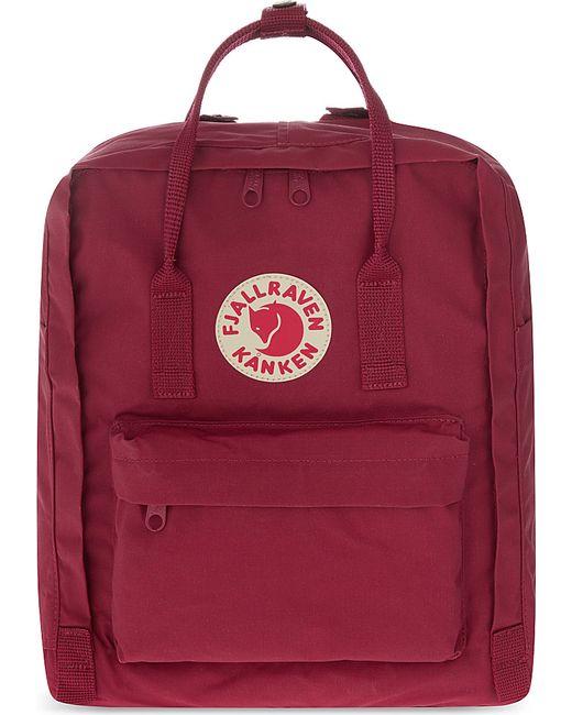 fjallraven k nken backpack in red plum lyst. Black Bedroom Furniture Sets. Home Design Ideas