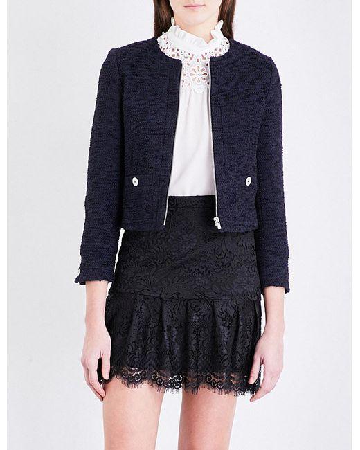 Claudie Pierlot   Blue Vicky Tweed Jacket   Lyst