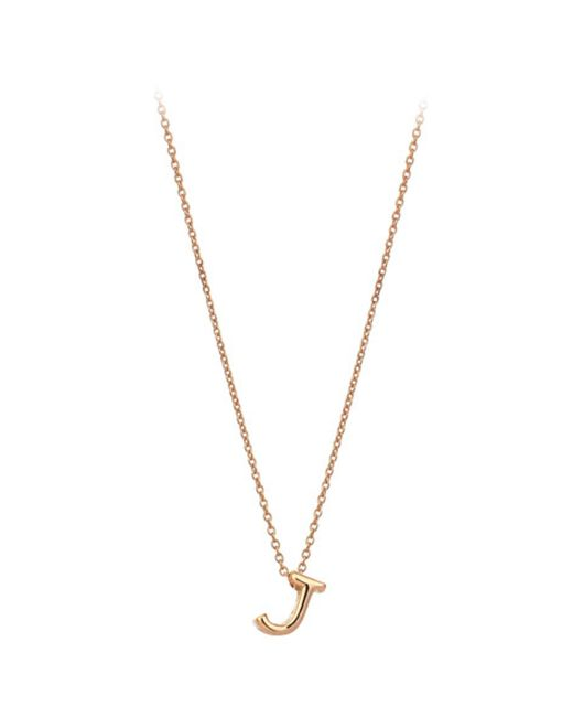 The Alkemistry | Metallic Kismet By Milka 14ct Rose-gold Initial J Necklace | Lyst