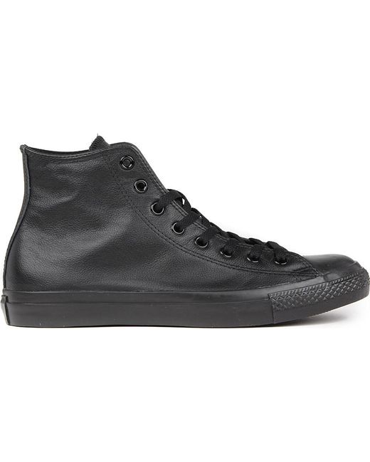 Converse | Black All Star Leather High-top Trainers | Lyst
