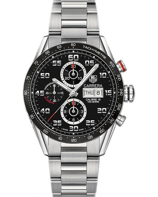 Tag Heuer | Black Cv2a1rba0799 Carrera Stainless Steel Watch for Men | Lyst