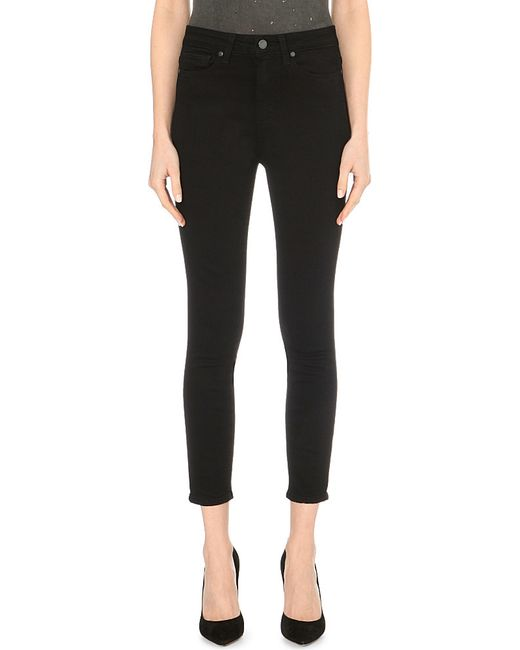 PAIGE   Black Margot Ultra-skinny High-rise Cropped Jeans   Lyst