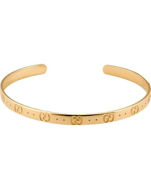 Gucci - Metallic Icon 18ct Yellow Gold Bracelet - Lyst