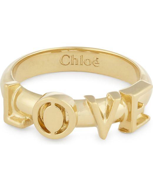 Chloé | Metallic Love Ring | Lyst