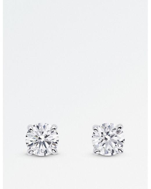 BUCHERER JEWELLERY | Metallic 18k White-gold Diamond Earrings | Lyst
