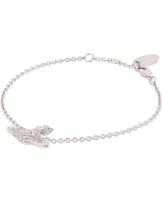 Vivienne Westwood - Metallic Grace Bas Relief Pavé Orb Bracelet - Lyst