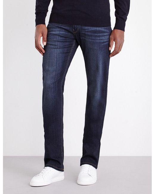 PAIGE - Blue Normandie Slim-fit Straight Jeans for Men - Lyst