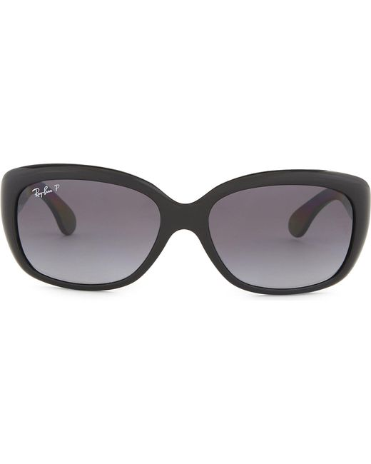 Ray-Ban | Black Rb4101 Jackie Rectangle-frame Sunglasses | Lyst