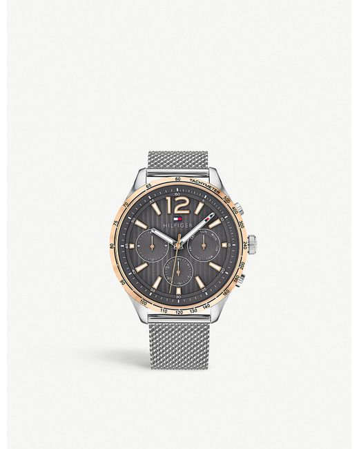Tommy Hilfiger - Metallic 1791466 Gavin Stainless Steel And Rose-gold Plated Watch for Men - Lyst