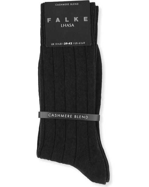 Falke - Black Lhasa Ribbed Socks for Men - Lyst