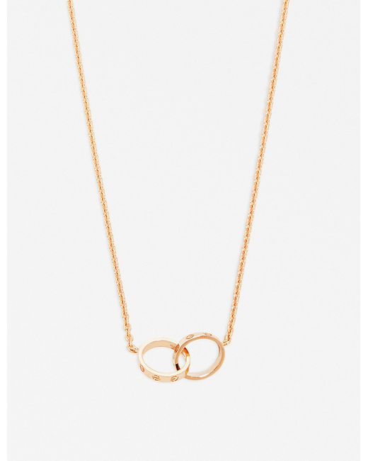Cartier | Love 18ct Pink-gold Necklace | Lyst
