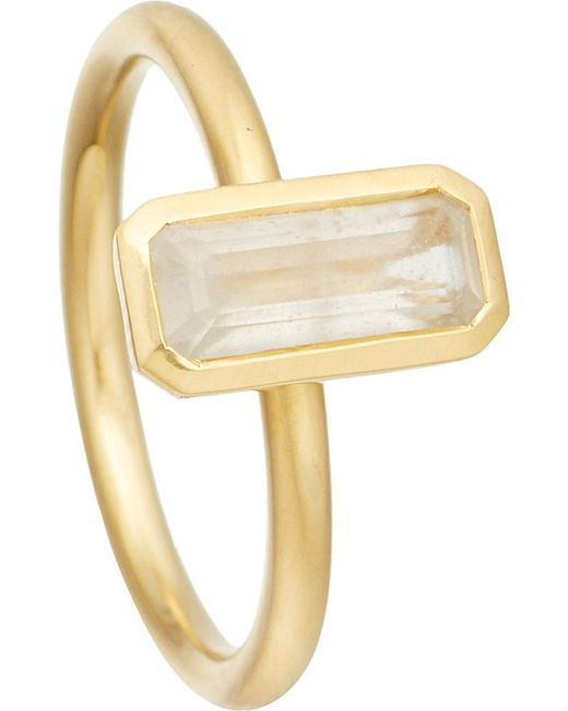 Astley Clarke | Metallic 18ct Gold Vermeil Moonstone Ring | Lyst