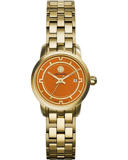 Tory Burch | Orange The Tory Gold-toned Stainless Steel Watch | Lyst