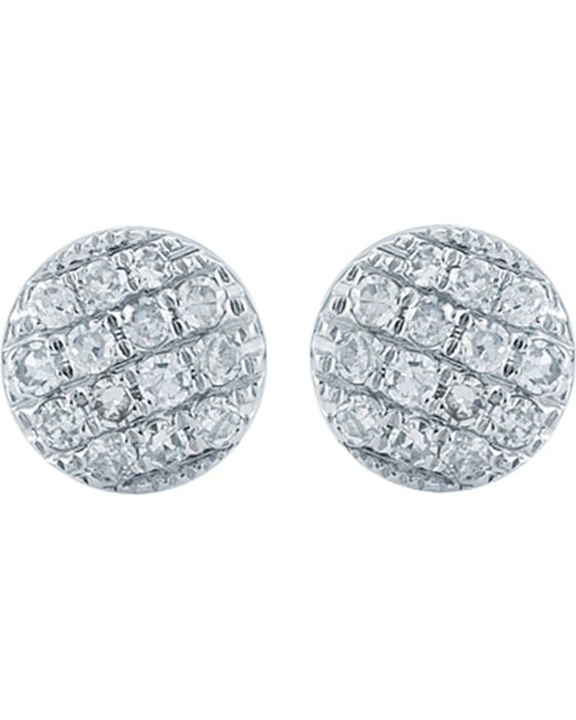 The Alkemistry - Metallic 14ct White Gold And Diamond Disc Earrings - Lyst