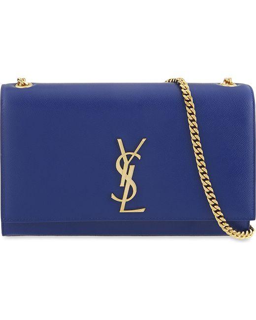 Saint Laurent | Blue Monogram Medium Leather Shoulder Bag | Lyst