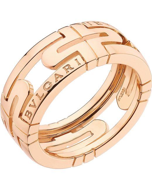 BVLGARI   Parentesi 18kt Pink-gold Ring   Lyst