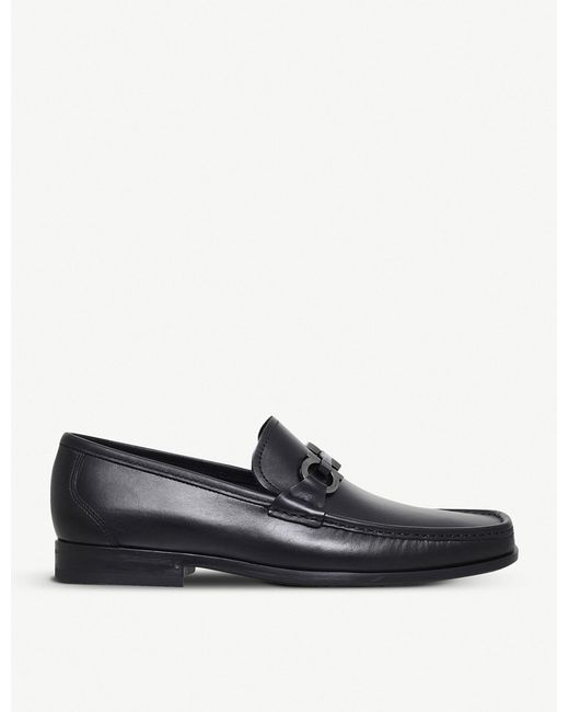 Ferragamo - Black Grandioso Leather Loafers for Men - Lyst