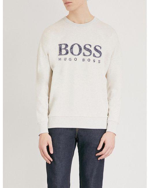 BOSS Orange - Natural Jersey Sweatshirt for Men - Lyst