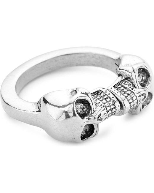 Alexander McQueen | Metallic Double Skull Ring | Lyst