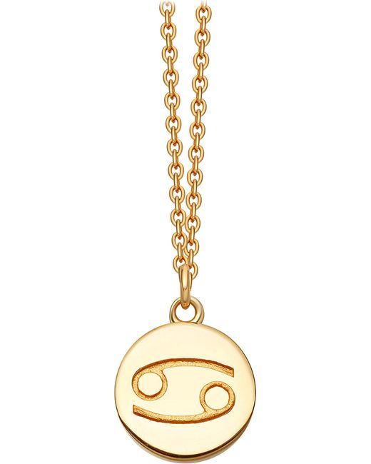 Astley Clarke | Metallic Zodiac Cancer Biography 18ct Yellow Gold-plated Pendant | Lyst
