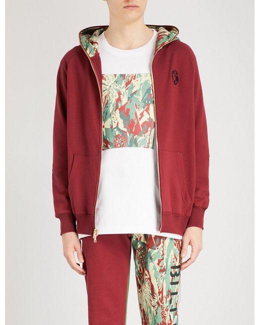 BBCICECREAM - Red Lizard Camouflage-print Cotton-jersey Hoody for Men - Lyst