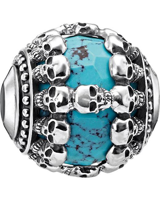 Thomas Sabo - Blue Skulls Turquoise Sterling Silver Karma Bead - Lyst