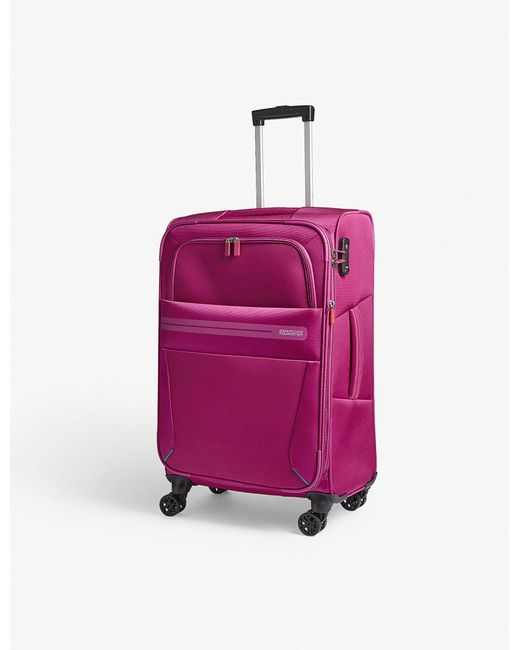 American Tourister - Pink Summer Voyager Four-wheel Suitcase 68cm - Lyst