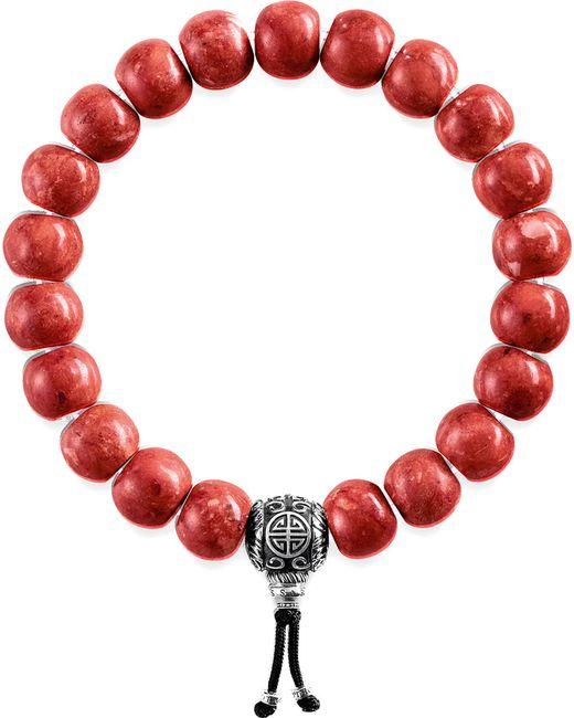 Thomas Sabo - Red Rebel At Heart Beaded Bracelet - Lyst