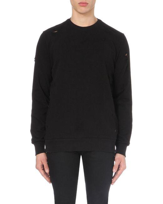Criminal Damage | Black Shoreditch Cotton-jersey Sweatshirt for Men | Lyst