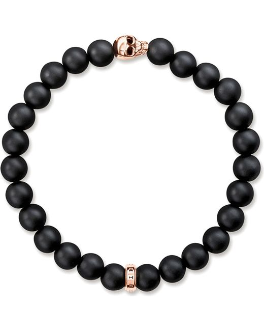 Thomas Sabo - Metallic Rebel At Heart Gold-plated And Matte Obsidian Bracelet - Lyst