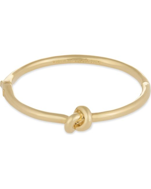 Kate Spade - Metallic Sailor's Knot Hinged Gold-plated Bangle - Lyst