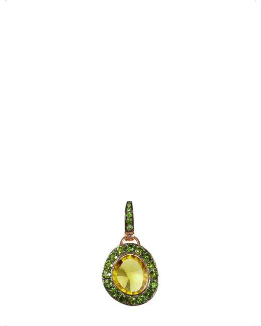 Annoushka - Green Dusty Diamonds 18ct Rose-gold Quartz And Diamond Pendant - Lyst