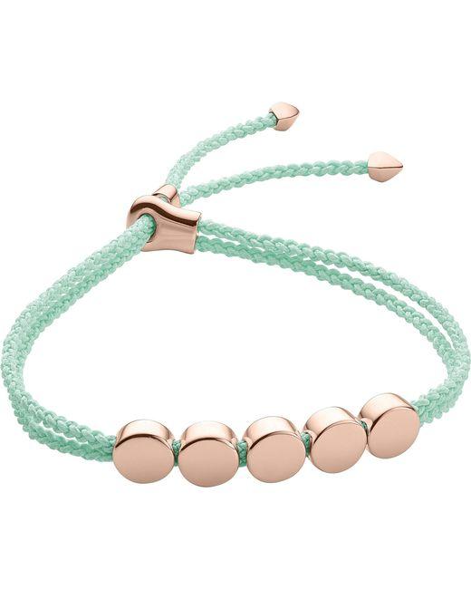 Monica Vinader - Blue Linear Bead 18ct Rose-gold Plated Friendship Bracelet - Lyst