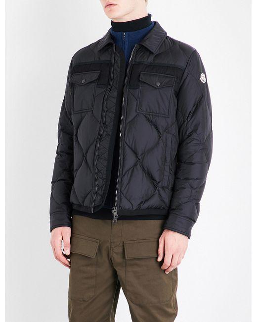 Moncler | Black Stephan Quilted Shell Jacket for Men | Lyst