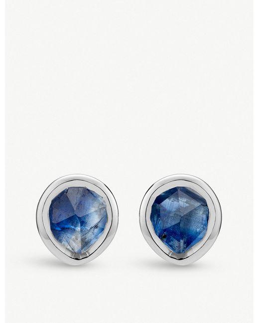 Monica Vinader - Blue Siren Mini Stud Earrings - Lyst