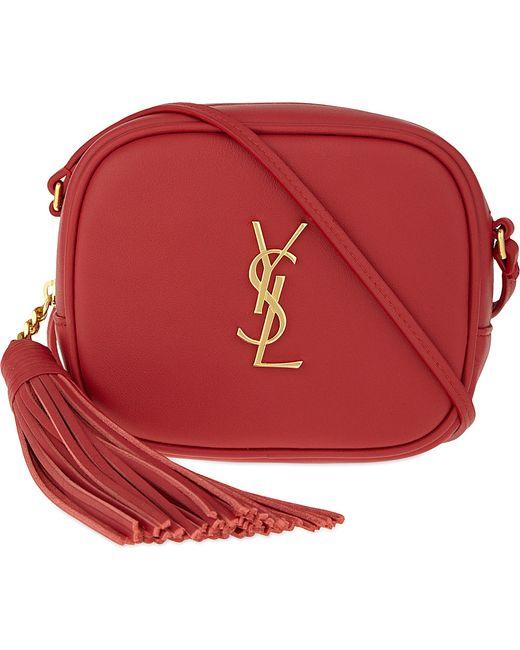 Saint Laurent | Red Monogram Blogger Leather Shoulder Bag | Lyst
