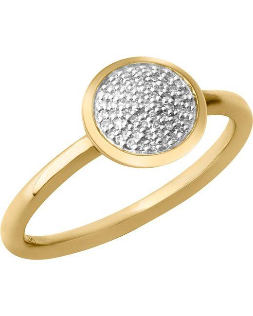 Links of London | Black Diamond Essentials 18-carat Yellow-gold Vermeil And Diamond Ring | Lyst