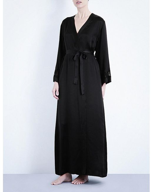 Nk Imode | Black Long Silk-satin Robe | Lyst