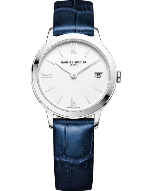 Baume & Mercier - Blue M0a10353 My Classima Stainless Steel And Crocodile Leather Watch for Men - Lyst
