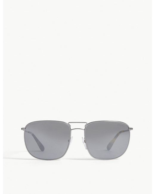 Prada - Gray Pr52t Square-frame Sunglasses - Lyst