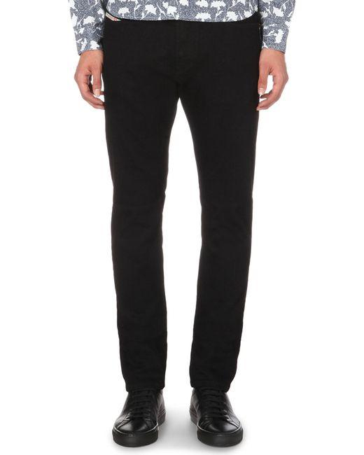 DIESEL - Gray Mens Grey Modern Slim-fit Tapered Jeans for Men - Lyst